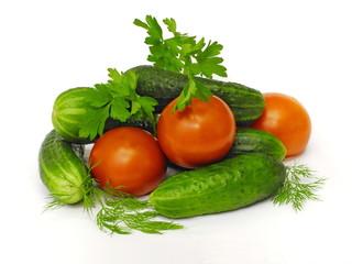 помидоры с огурцами