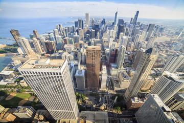 Beautiful skyline of Chicago, Illinois.