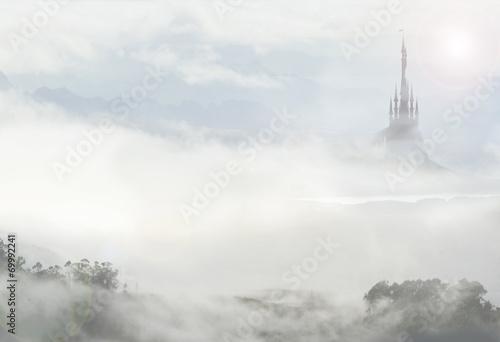 Zdjęcia na płótnie, fototapety, obrazy : fairy palace in clouds