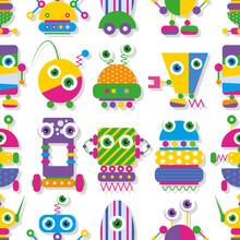 collection modèle mignon robots aux grands yeux