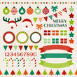 Retro Christmas Set Red/Green/Orange/Beige