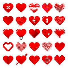 Red Hearts Icons