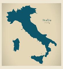 Moderne Landkarte - Italien