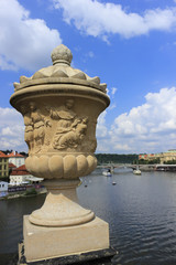 Prague, city views in the summer