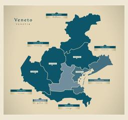 Moderne Landkarte - Veneto IT