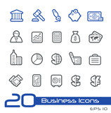 Business and Finance Icons -- Line Series