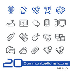 Wireless Communications Icons -- Line Series