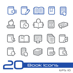 Book Icons -- Line Series
