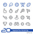 Sports Icons -- Line Series