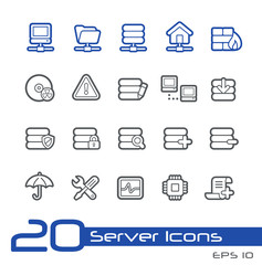 Server Icons -- Line Series