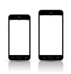 Smartphone mockup set big and small.