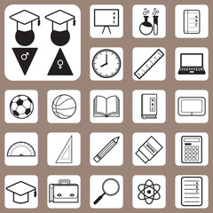 Vector Illustration,Back to School Icon for Design and Creative