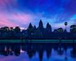 Angkor Wat famous Cambodian landmark on sunrise