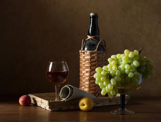 Натюрморт с виноградом.