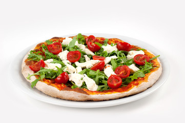 pizza con rucola