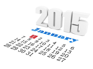 Image digits of the new year