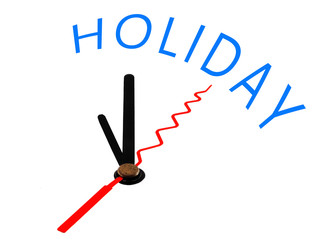 Holiday with clock concept