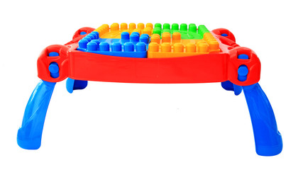 colorful table toy for little kids isolated
