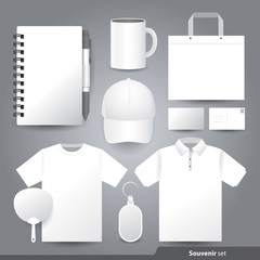 Stationery set design / Gift set template.