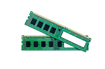 memory module RAM on a white background