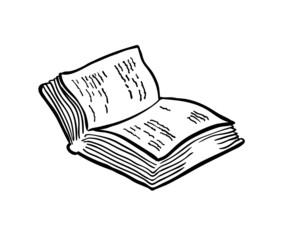 Book sketch, vector illustration