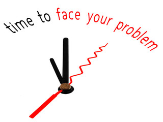 time to face your problem with clock concept