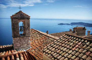cote d'azur roofs with sea view