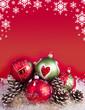 canvas print picture - Weihnachtskugeln mit Dekoration und Sternen