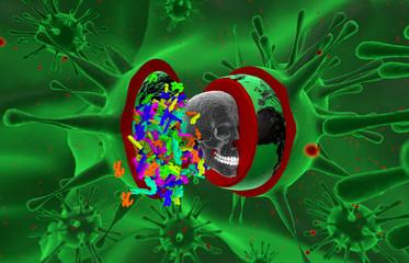 Inside a virus. Health, epidemic, virus, ebola.