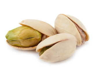 Dried pistachios isolated