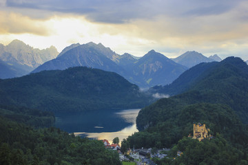 Hohenschwangau castle in the Bavarian Alps - Germany