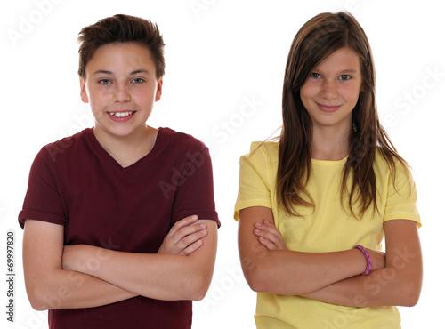 canvas print picture Junge Teenager Kinder Portrait mit verschränkten Armen