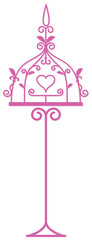 Cage tracery with heart