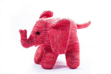 Isolated picture of Elephant toy in pink
