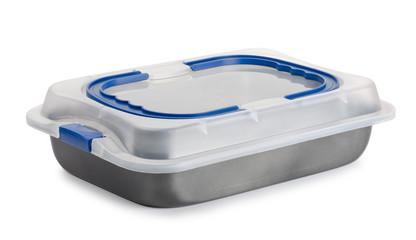 Baking pan witn plastic lid