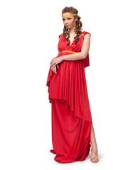 girl in the dress of the Greek goddess