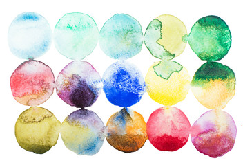 Abstract watercolor aquarelle hand drawn colorful art paint