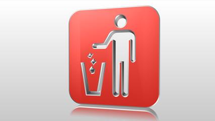 Logo 3D cestino rifiuti