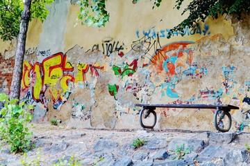 Graffiti city wall