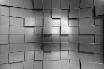 Grey Squares Deformed 02
