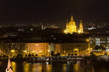 Night cityscape of  Budapest