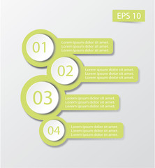 illustration Infographic in gray background