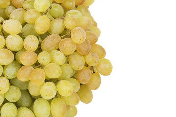 Bunch of ripe and juicy green grapes
