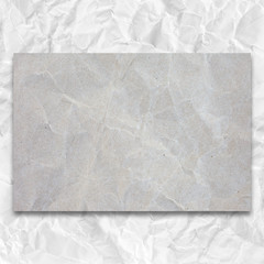 gray crumpled blank list with background