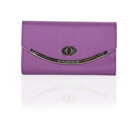 Woman purple handbag