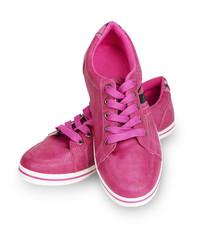 Woman pink sneakers