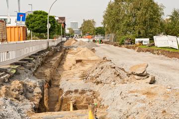Umfassende Strassenbauarbeiten
