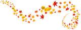 Fototapety bunte Herbstblätter als Collage