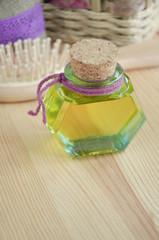 Bottle of cosmetic oil