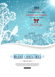 Merry christmas background with winter landscape and place for - 70003204